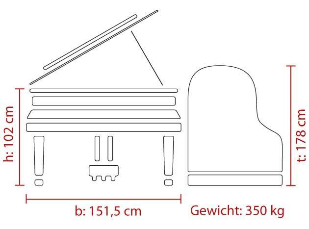 Feurich NEU! Mod. 179 - Dynamic II Mahaghoni poliert