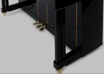 FEURICH Mod. 125 - Design Schwarz poliert/Chrom