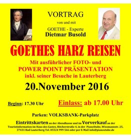 PS-ArenA 20.11.2016 Ticket • GOETHEs-Harz-Reisen