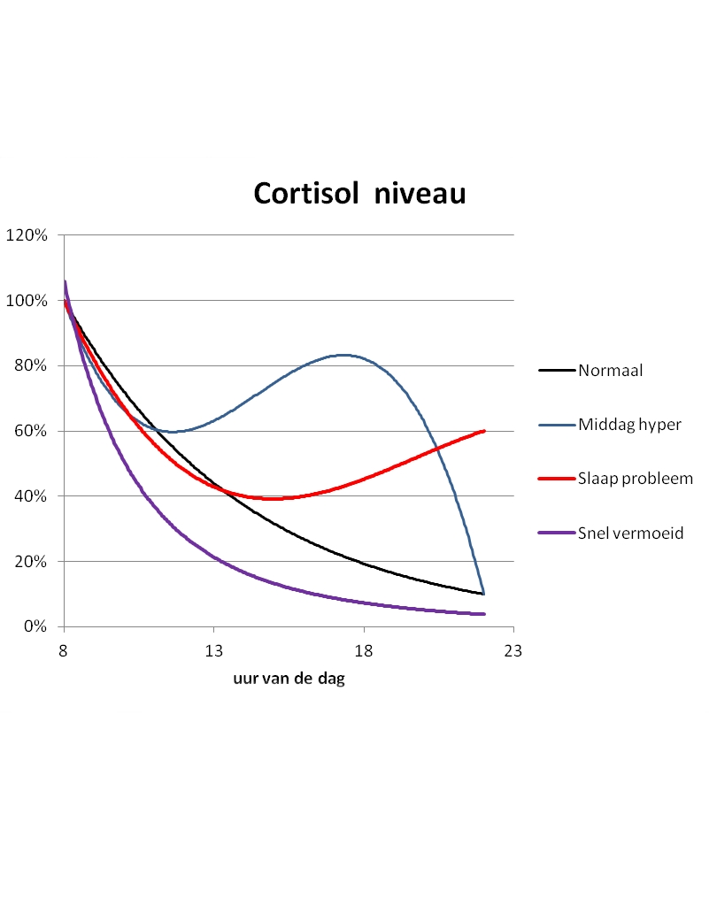 cortisol grafiek