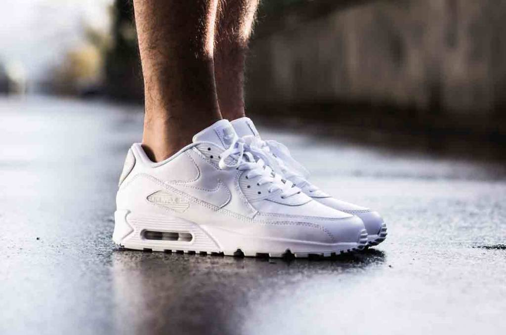 air max 90 leather blancas