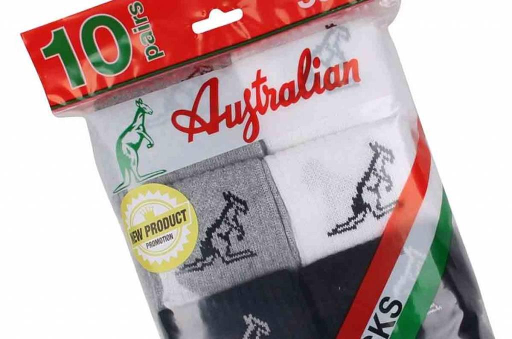 Australian Australian Sport Sokken Maat 43-46 (10 Pack)