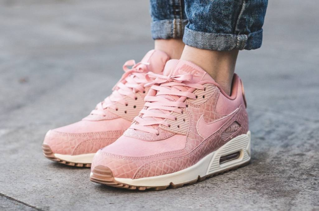 best loved 41a4d ef5a1 ... Glaze Pearl Pink 3 Nike Air Max 90 Premium WMNS 896497-600 ...