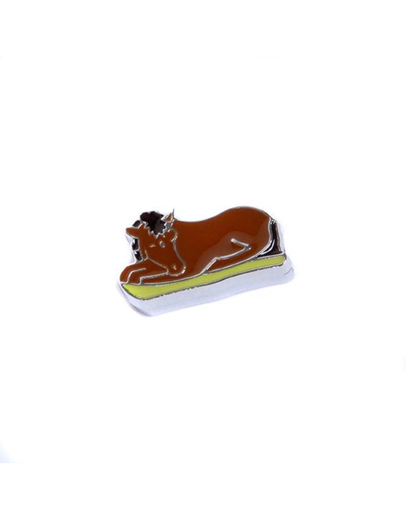 Bedeltje 5 - Liggend Paard