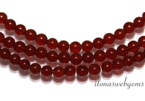 Carnelian - Red Agate beads app. 4.5mm