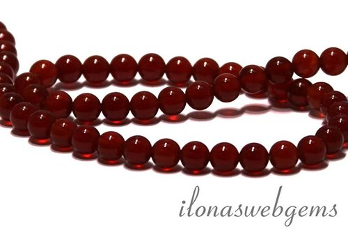 Carnelian - Red Agate beads app. 8mm