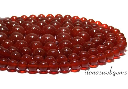 Carnelian - Red Agate beads app. 18mm