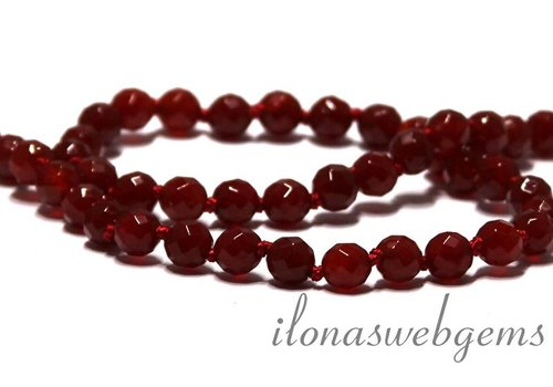 Carnelian - Red Agate beads faceted app. 6mm