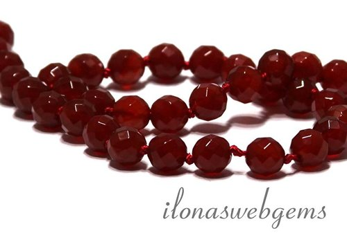 Carnelian - Carnelian beads facet about 6mm