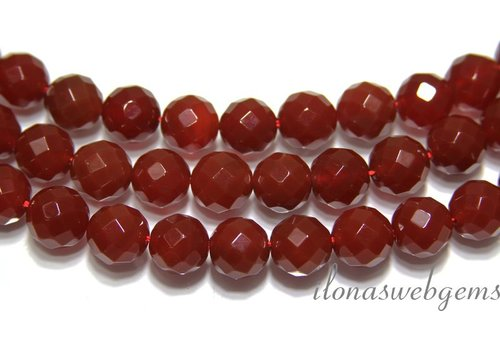 Carnelian - Red Agate beads app. 14mm