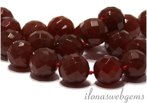 Carnelian - Red Agate beads faceted app. 20mm