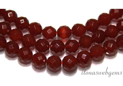 Carnelian - Red Agate beads faceted
