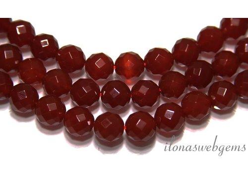 Carneool - Kornalijn kralen facet ca. 12mm