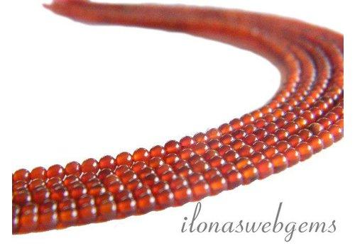 Carnelian - Red Agate beads mini app. 2mm