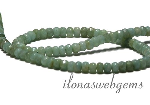Amazonite beads faceted roundel 5x3.5mm