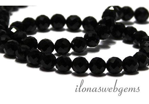 Onyx facettiert Perlen etwa 8mm-Klasse AAA
