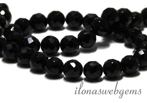 Onyx beads facet around 10mm
