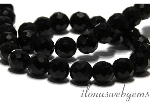 Onyx beads facet about 12mm