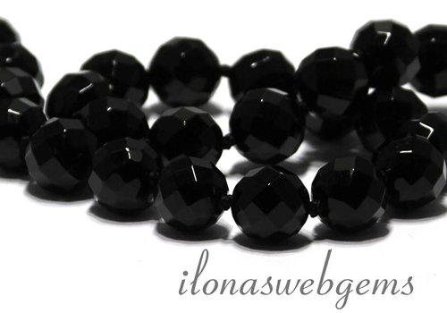 Onyx bead faceted app. 14mm