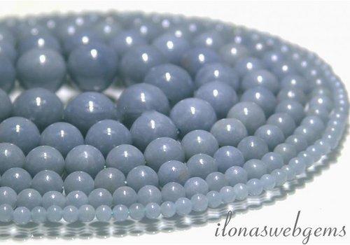 Angelite Perlen (Angel Stone) etwa 6 mm AA Qualität