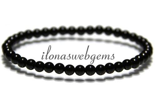 Onyx bead bracelet approx 4.3mm
