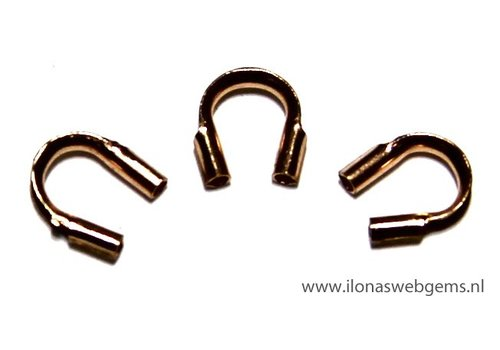 Rosé Goldfilled draadbeschermer / draadgeleider ca. 5mm
