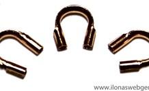 10 Stücke Rose Gold gefüllte Drahtschutz / Führungsdraht 5mm MEDIUM