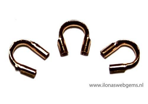 10 stuks Rosé Goldfilled draadbeschermer / draadgeleider ca. 5mm MEDIUM