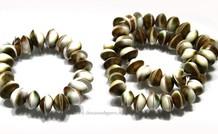 Shiva Shell armband wit/groen