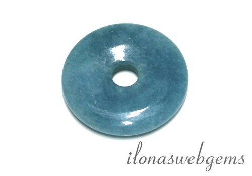 Blue sponge Quartz hanger donut ca. 40x7mm
