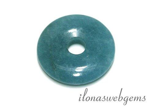 Blue Sponge Quartz pendant donut app. 35x7mm