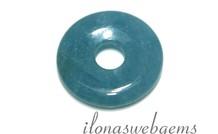Blue sponge Quartz hanger donut ca. 30x6.5mm