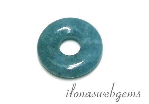 Blue Sponge Quartz pendant donut around 25x6mm