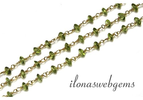 10cm vermeil necklace with peridot beads