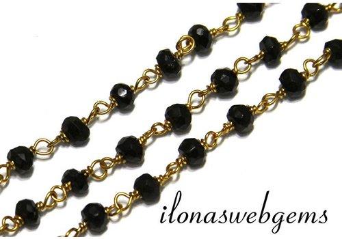 10cm Vermeil Halskette mit Perlen Spinell