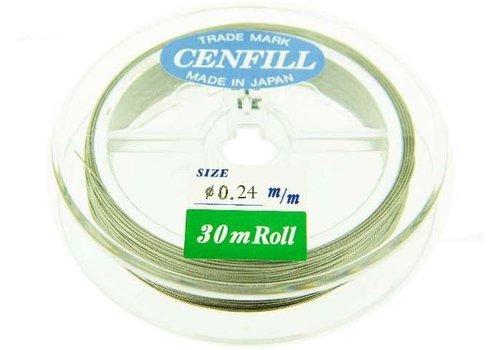 Cenfill RVS gecoat rijgdraad 0.24mm ( 7 draads)