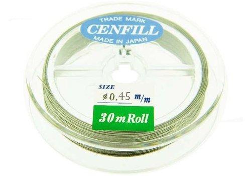 Cenfill RVS gecoat rijgdraad 0.45mm ( 7 draads)
