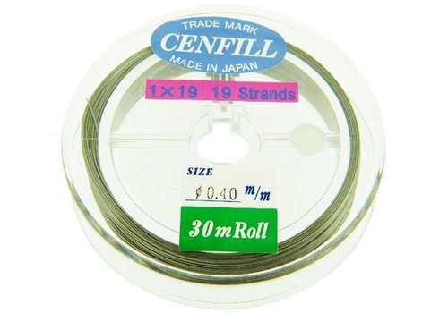 Cenfill Edelstahl beschichtet basting 0,40 mm (19-lagig)