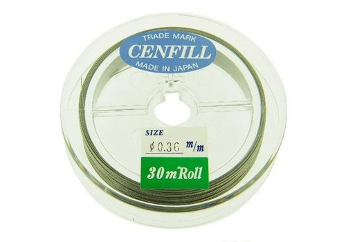 Cenfill Edelstahl beschichtete Bördelung 0,36 mm (49 Drähte)