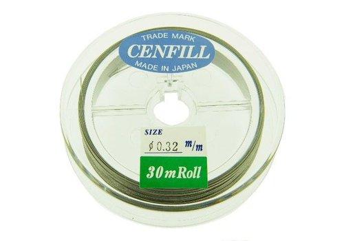 Cenfill RVS gecoat rijgdraad 0.32mm 30m