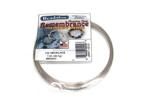 Perlealon rvs memory wire necklace