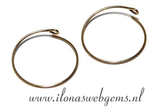 1 paar 14k/20 Goldfilled creolen