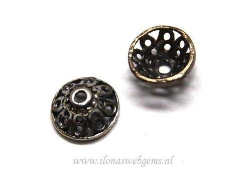 2 stücke 925/000 Silber   Perlenkap antik look ca. 10x5mm