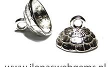 Sterling zilveren kralenkap ca. 10mm