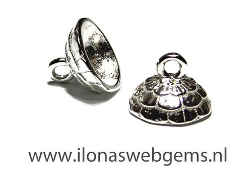Sterling Silver beadskap app. 10mm