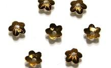25 stücke Vermeil   Perlenkapje ca.4mm