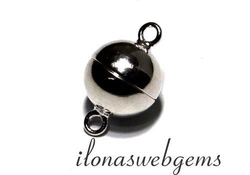 Sterling zilveren magneetslot ca. 10mm