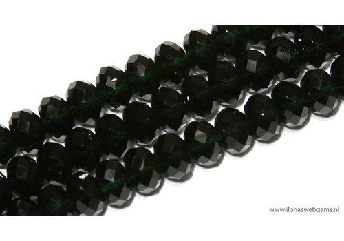 Hydro Quarzt facet kralen rondel ca. 9x6mm
