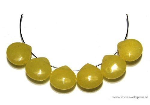 6 Jade druppels plat