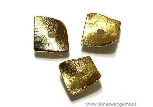 10 Stück vergoldet Chips 10x10mm